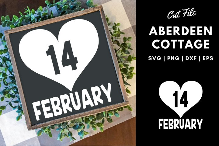 Valentines Day | February 14th Cut Out SVG Design