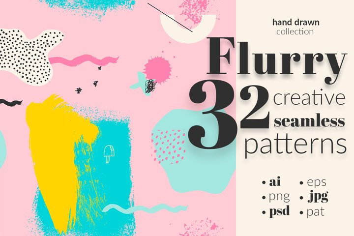 Flurry 32 Seamless Patterns Kit