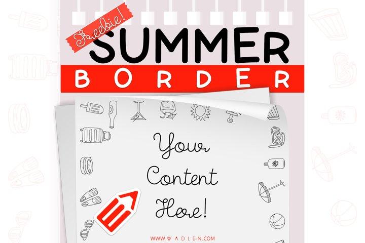 Summer - Border Template