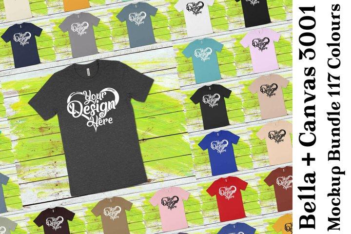 Bella Canvas 3001 T-Shirt Mockup Bundle 438
