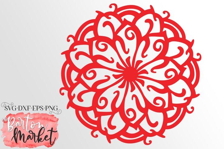 Zen Flower Mandala SVG DXF EPS PNG
