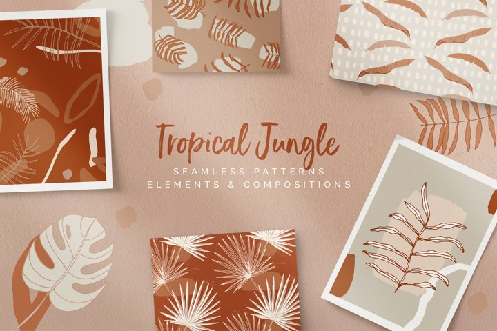 Tropical Jungle Patterns & Elements