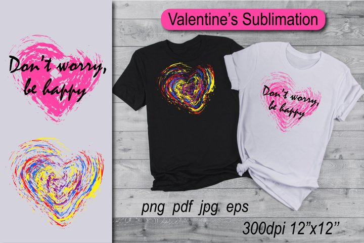 Valentines Day Sublimation. Valentines Heart sublimation