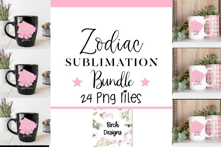 Zodiac Constellation Birthday PNG Sublimation Files