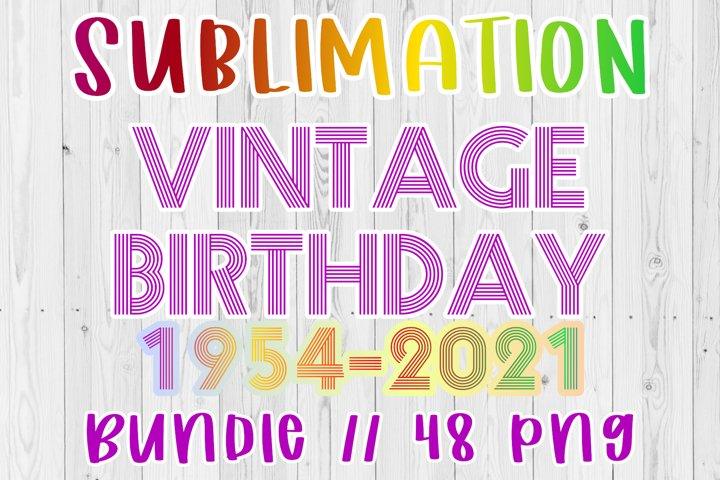 Vintage Birthday HUGE Bundle from 1954-2001