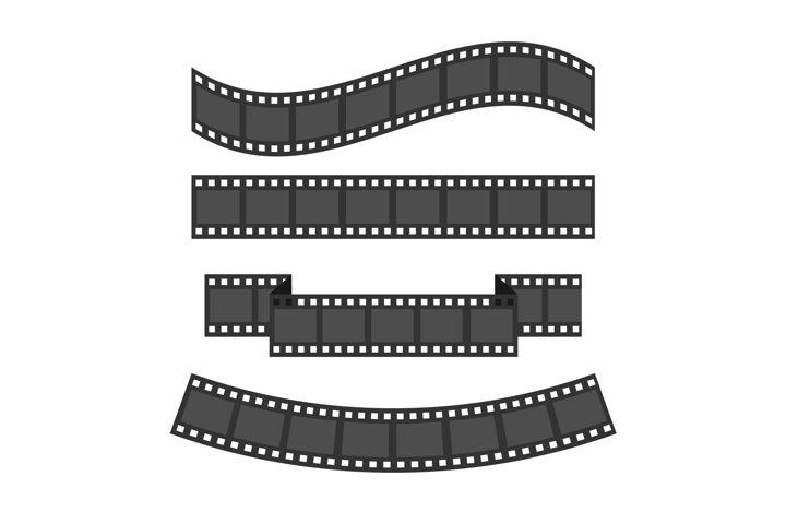 Film strip frame set. Vector illustration