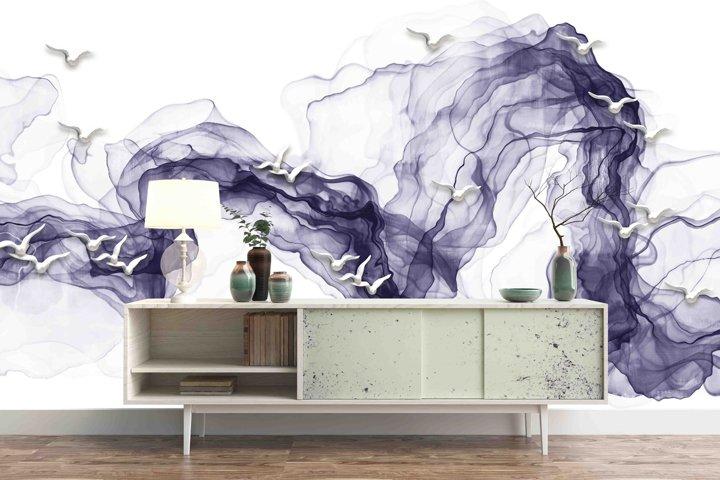 Purple Watercolor design for your Wallpaper Prints PSD