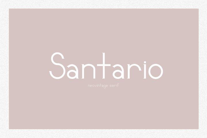 Santario | a serif font
