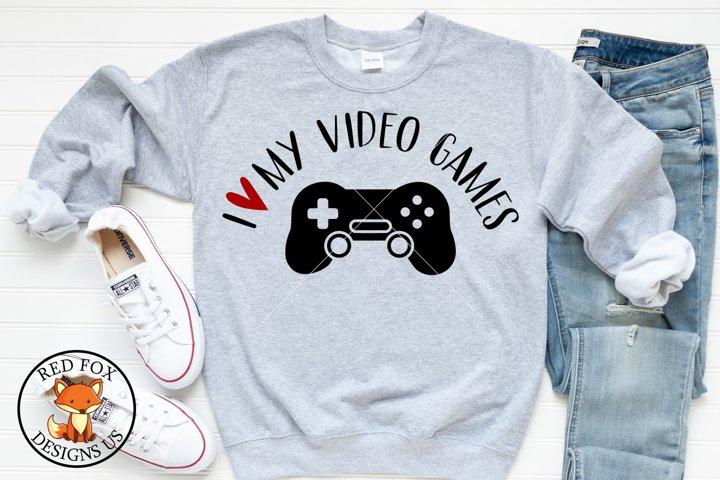 I love my video games SVG DXF PNG Cut File, Valentines Day