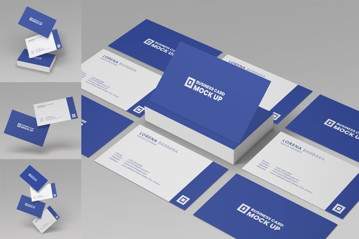 Realistic Business Card Mockup PSD Vol 1