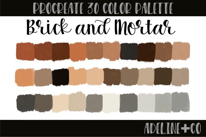 Brick and Mortar Procreate color palette