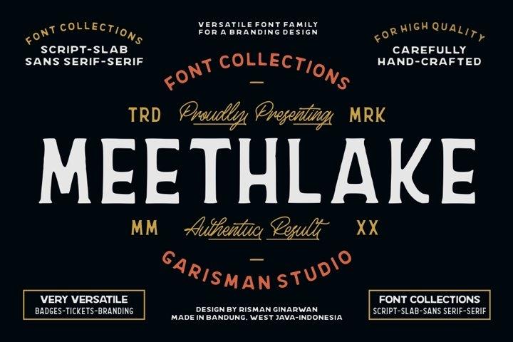 Meethlake Typeface