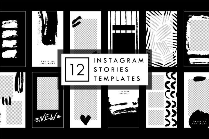 Black Brush - Instagram Stories Templates