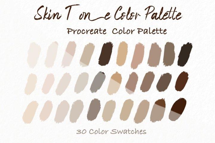 Skin Tone Color Palettes,Skin Color, Procreate Palettes