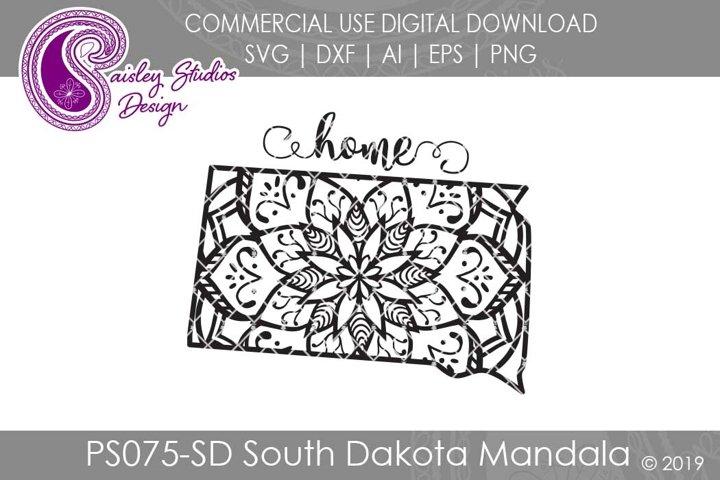 Mandala South Dakota Home SVG DXF Ai EPS PNG