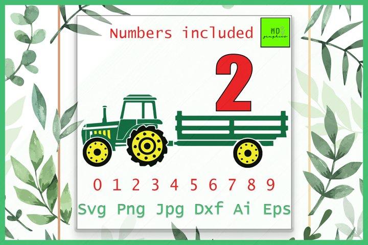 Tractor SVG, Green TRACTOR, Farm Birthday SVG, Birthday SVG