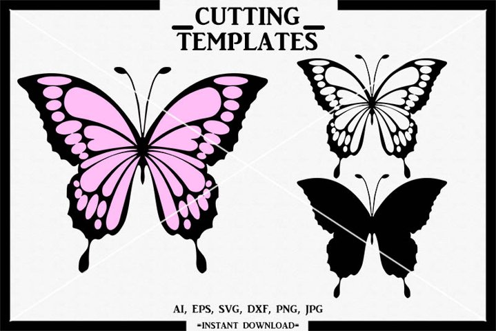 Butterfly, Layered Butterfly, Silhouette Cameo, Cricut, SVG