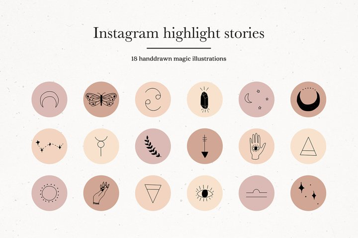 Instagram Magic Story Highlights Icons Covers