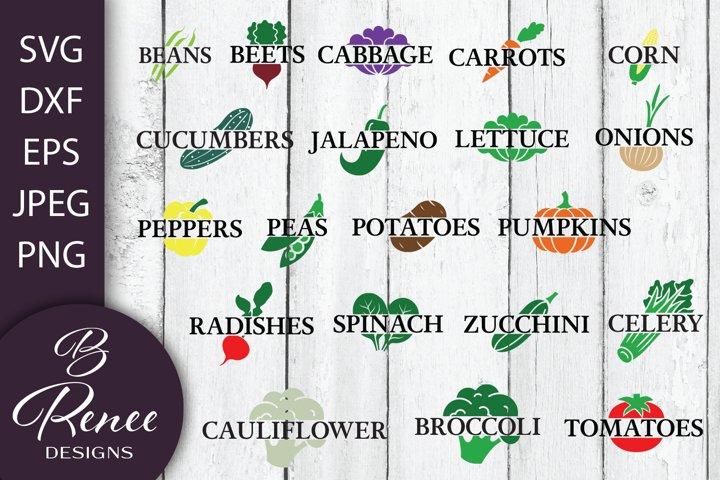 Garden Label Bundle | 27 Cut Files | Fruit and Veggie Labels