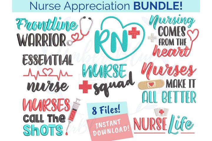 Nurse Appreciation Embroidery File Bundle