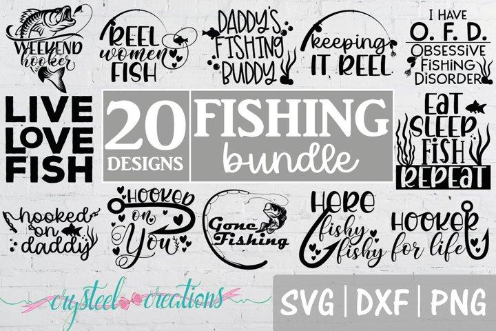 Fishing Bundle SVG, DXF, PNG, Fishing