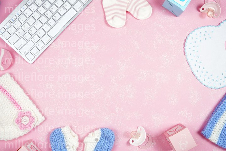 Baby Nursery Mom Blog Hero Header Mockup Styled Stock Photo