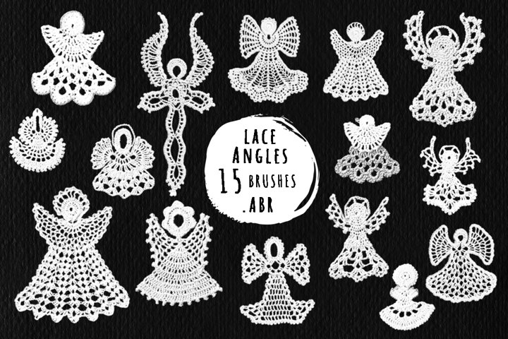 Angels lace brushes for Photoshop, ProCreate .abr