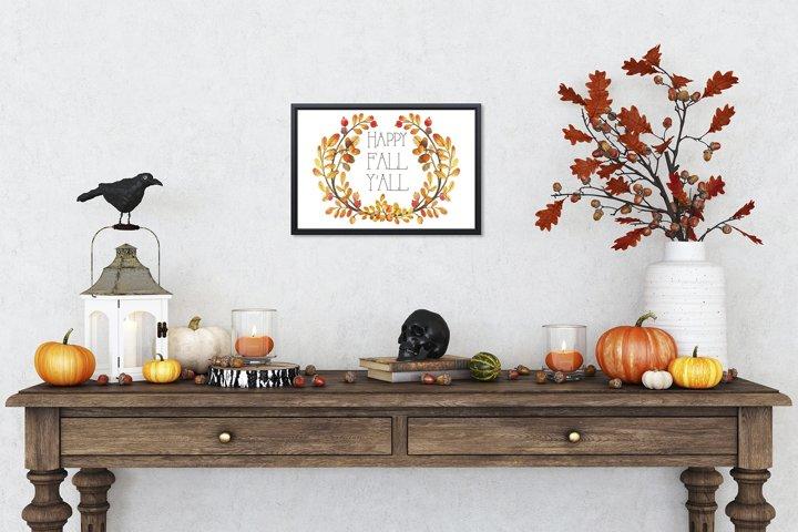 Halloween Interior mockup - frame mockup creator