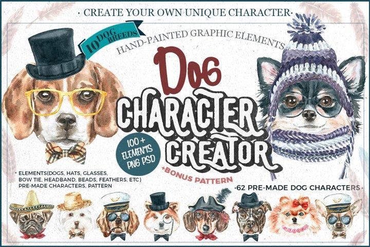 Dog watercolor.Animal Clip art Dog watercolor breeds clipart