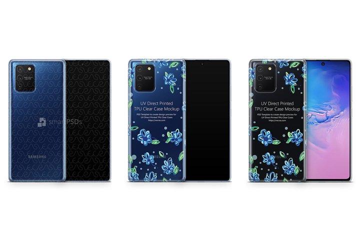Galaxy S10 Lite 2020 TPU Clear Case Mockup
