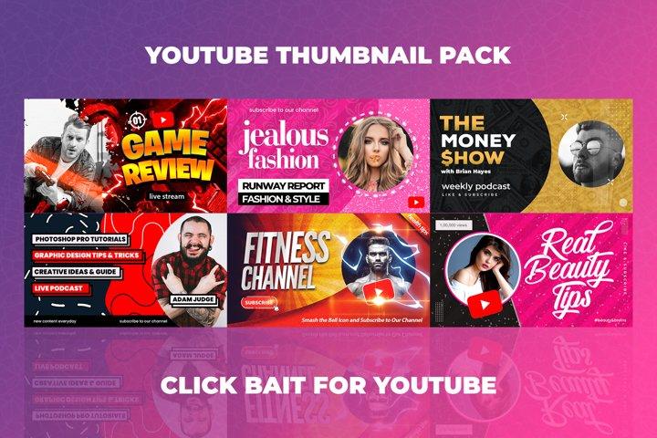 Youtube Thumbnail Templates Set 4