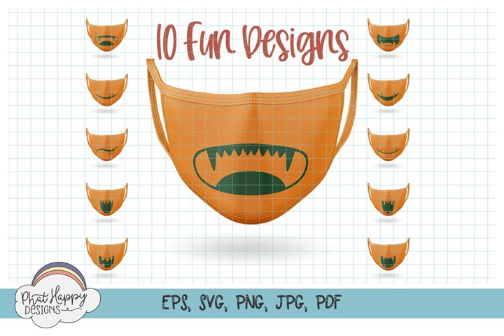 10 Monster Faces for Masks - SVG Cut Files