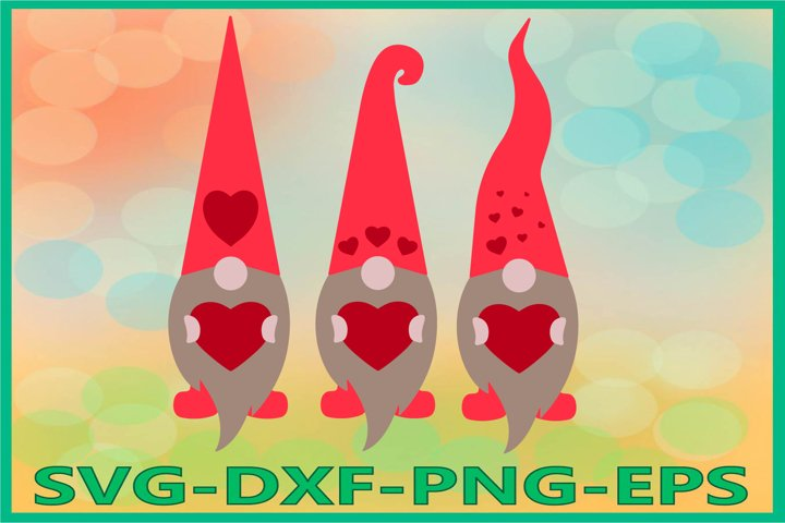 Gnome Valentines Day Svg