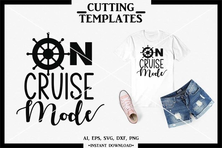On Cruise Mode, Summer, Silhouette, Cricut, Cameo, SVG, PNG