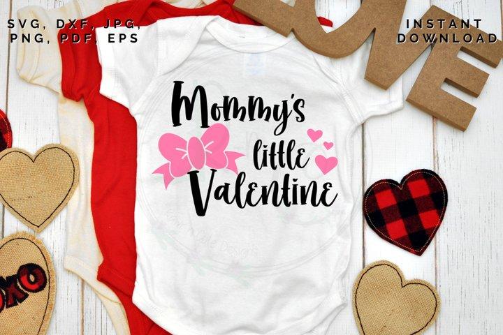 Mommys little Valentine svg, Valentines Day cut file