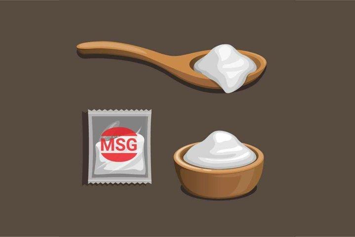 MSG - Monosodium Glutamate food flavoring product symbol set