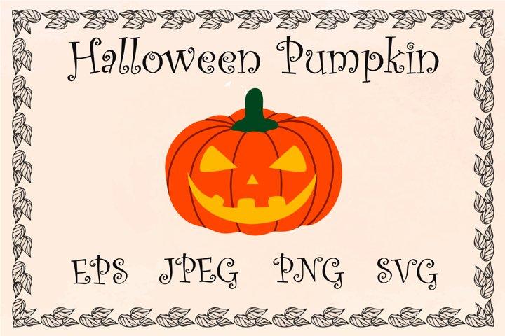 Pumpkin with a face, Halloween pumpkin, vector, svg, png
