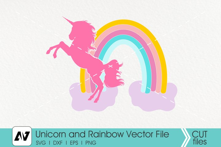 Unicorn Svg, Rainbow Svg, Unicorn Clip Art
