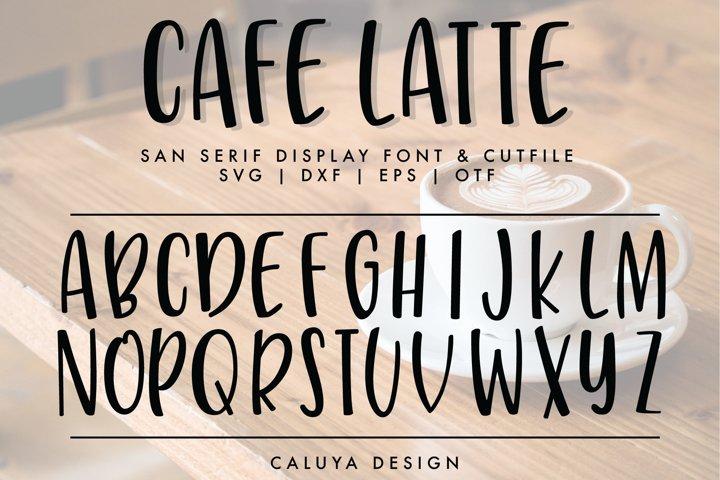 Handwritten San Serif Letters Cut File   SVG, DXF, OTF, TTF