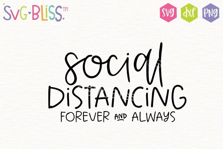 Social Distancing SVG Cut File