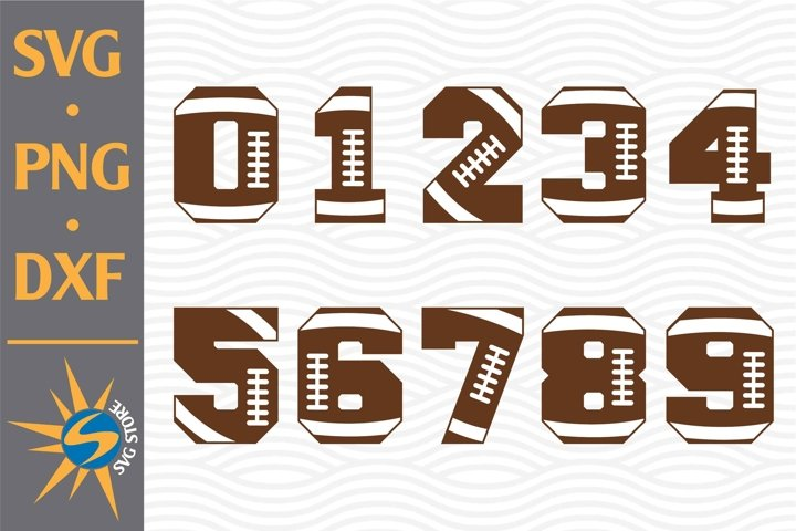 Football Numers SVG, PNG, DXF Digital Files Include