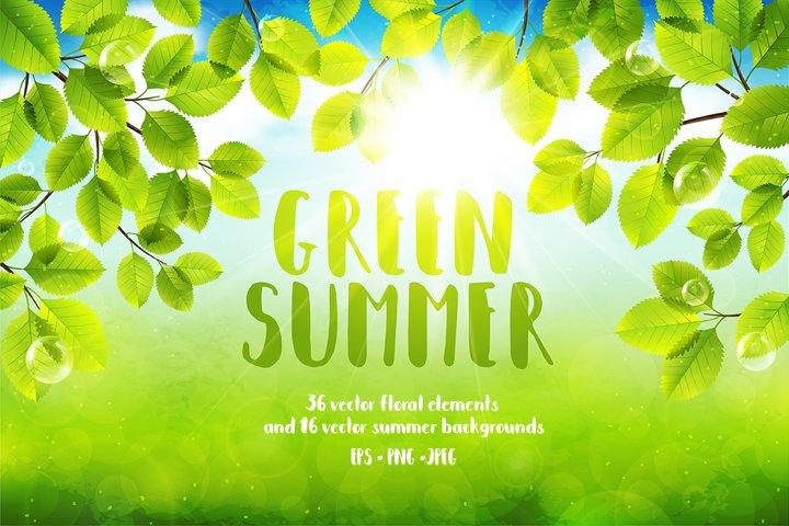 Green Summer Vector Collection