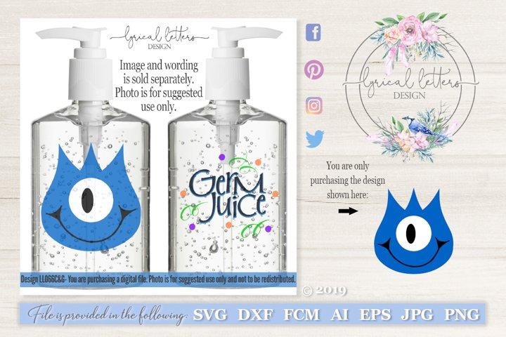Germ Juice Hand Sanitizer Monster #3 SVG DXF LL066C