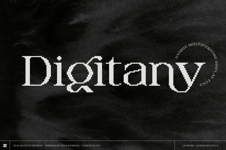 Digitany - Multipurpose Pixel-Serif Font