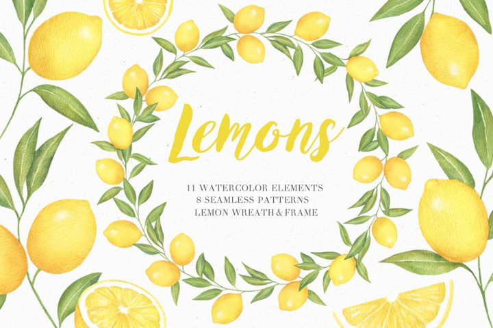 Lemon Watercolor Collection