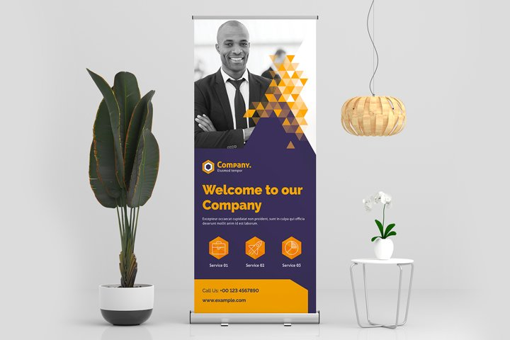 Roll-Up Banner Creative Template