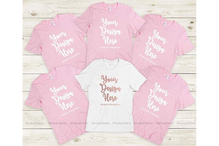 Bella Canvas 3001 Bachelorette Bride Pink Tshirt Mockup