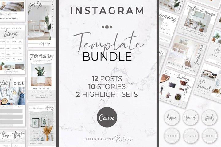 Instagram Template Bundle   Linen