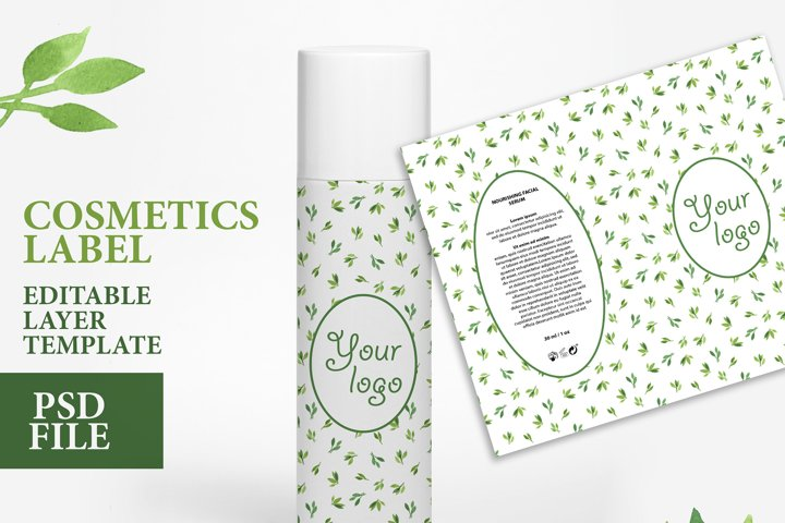Cosmetic label soap design custom soap editable layer PSD
