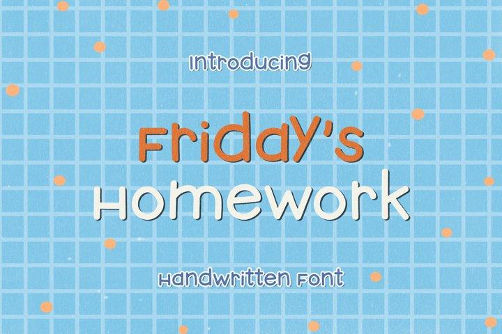 Fridays Homework - A Funny Handwritten Font